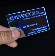 Plexiglass LED-Lit Business Card Project