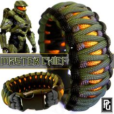 Master Chief // Halo inspired custom 550 paracord braceket, available at www.paragearz.com