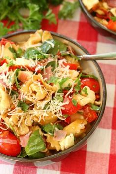 A colorful blend of delicious Tuscan flavors make this tortellini salad a perfect summer side!