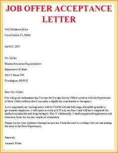 Internship acceptance letter sample letter pinterest job offer acceptance letter example thecheapjerseys Images