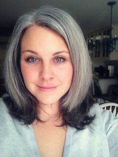 Best Resource So Far for Going Gray!-How Bourgeois: Seven Best Tips & Tricks for Successfully Growing Your Gray Hair Out! Gray Hair Growing Out, Grow Hair, Grey Hair Don't Care, Short Hair Styles, Natural Hair Styles, Semi Permanent Hair Color, Grey Wig, Going Gray, Hair Highlights