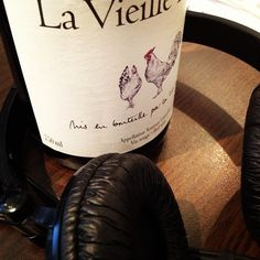 Good music and a glass of La Vieille Ferme red