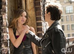 """The Vampire Diaries -- """"Because the Night"""" -- Pictured (L-R): Arielle Kebbel as Lexi and Ian Somerhalder as Damon -- Image Number: VD417a_0108r.jpg Photo: Bob Mahoney/The CW -- © 2013 The CW Network, LLC. All rights reserved."""