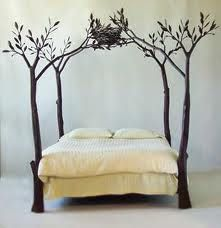 This wrought iron bed is different