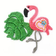Crochet Motif, Crochet Flowers, Crochet Baby, Crochet Patterns, Crochet Flamingo, Crochet Animals, Diy And Crafts, Crochet Earrings, Knitting