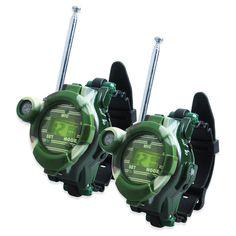 2 PCS jual panas arah Walkie Talkie Radio anak anak-anak Spy pergelangan tangan menonton mainan gadget, C0a51 S035