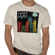 urban dwelling abstract mens tee shirt