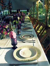 Bohemian Wedding: Using Fanciful Tableware by Cheryl Cobleigh