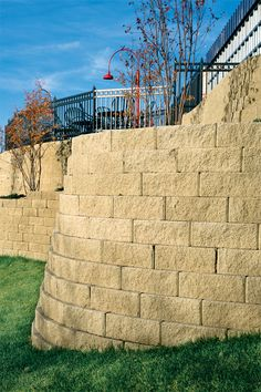 For commercial, municipal and residential wall projects, Anchor™ Diamond® blocks outperform traditional cast-in-place, timber and boulder walls. It is a perfect choice when your project calls for classic, clean lines. The straight face style, combined with the rear-lip block, provides design freedom and an attractive retaining wall for residential or commercial applicatons.