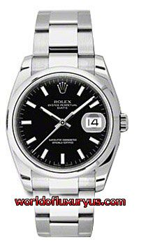 This Rolex Oyster Perpetual Date Mens Watch, 115200-BKIO features 34 mm Stainless Steel case, Black dial, Sapphire crystal, Fixed bezel, and a Stainless Steel bracelet. - See more at: http://www.worldofluxuryus.com/watches/Rolex/Date/115200-BKIO/641_801_6341.php#sthash.sr1H87bJ.dpuf
