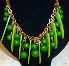 1930s Bakelite & Brass Art Deco Sharks Tooth With Dangling Baubles 17 Necklace