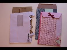 (3935) Mail Art - Recycling Junk Mail Envelopes - YouTube