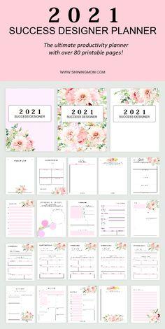 Monthly Planner Printable, Printable Calendar Template, Free Planner, Goals Planner, Planner Template, Weekly Planner, Planner Stickers, Goals Template, Blog Planner