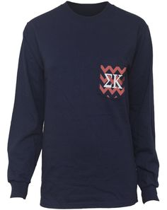 Sigma Kappa Bid Day Chevron Perfection Longsleeve