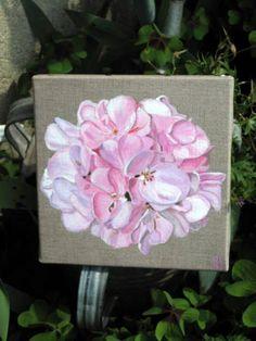 rose grans modèle (50x50) de l'album peintures sur toile de lin Plus