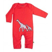 Gorgeous babyclothes from Not Pink or Blue - Ava & Luc: Giraffe Playsuit