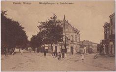 alte Ak 1916, Czersk, Pommern, Westpreußen, Königsbergerstrasse und Sandstrasse