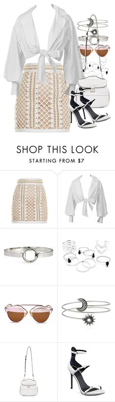 """""""Untitled #1618"""" by victoriamk ❤ liked on Polyvore featuring Balmain, H&M, Proenza Schouler and Kendall + Kylie"""