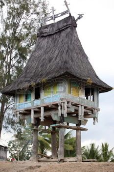 Asia, Southeast Asia, East Timor, Timor-Leste, Timor, East Coast, Raca, house, tradition, architecture, A Traditional farmhouse in Raca in the east of East Timor in Southeast Asia Urs Flüeler photo