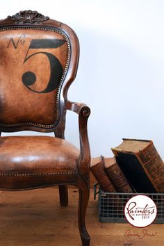 Annie Sloan • Paint & Colour: Leather Look Chair by Painter in Residence Jonathon Marc Mendes!