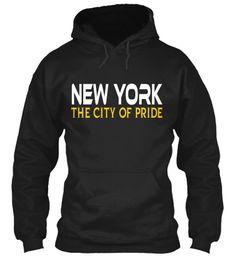 New York The City Of Pride Black Sweatshirt Front