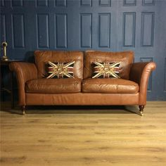 Leather 2 Seater Sofa victorian cigar club Suite tan Chair Vintage Chesterfield | eBay