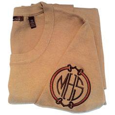 Exclusive Cotton Crewneck with Sleeve Monogram