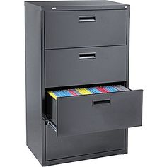 file cabinets | Staples HL1000 Lateral File Cabinet, 30in. Wide, 4-Drawer, Black