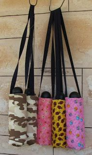 Life on the run: The square base water bottle carrier tote - A tutorial