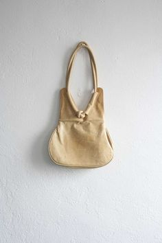 Pale Yellow Leather Purse