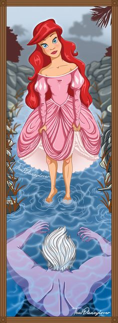 If Disney Princesses had their own Haunted Mansion Stretch Paintings Ariel and Ursula The Little Mermaid Kida Disney, Disney Nerd, Disney Fan Art, Disney Love, Disney Parks, Disney Style, Disney Magic, Walt Disney, Pixar