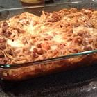 The Best Spaghetti Casserole Recipe...ever! This recipe will provide you two good meals for 4.  Add some fresh bread and a nice caesar salad.