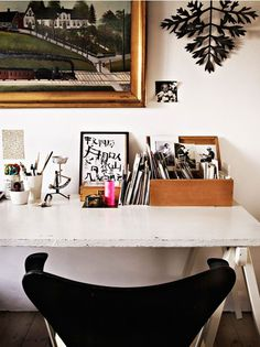 Boho Chic Home Office Designs | Work from home #HomeOffice #interior #decor