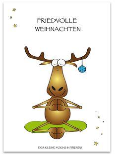 ❤ DER KLEINE YOGI - POSTKARTE ❤ Jedes wunderschöne Motiv auf unseren Postkarten wird mit 100% Liebe, Leidenschaft und Hingabe von Barbara Liera Schauer entworfen und gezeichnet ❤ Wir achten bei der Herstellung unserer Produkte auf höchste Qualität ❤ Ein liebevolles Geschenk vom kleinen Yogi ist immer etwas ganz besonderes und berührt die Herzen von Groß und Klein ❤ Format: 148 x 105 mm (DIN A6) Christmas Moose, Christmas Greetings, Christmas And New Year, Promotion Card, Christmas Cards, Christmas Decorations, Rock Painting Ideas Easy, Sports Activities, Children's Book Illustration