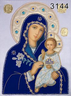 Mother of God the Unfading Bloom 1, Catalog of St Elisabeth Convent. To order. http://catalog.obitel-minsk.com/ministry #CatalogOfGoodDeed #icon #oklad #textile #painted #handmade #art #craft #MotherofGod #OurLady #Blessed #beauty #orthodoxy #inspiration #embroidery #needlework #talent