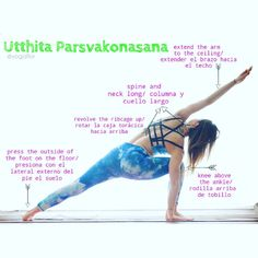 "372 Likes, 3 Comments - Florencia Mompo ૐ (@yogaflor) on Instagram: ""Utthita Parsvakonasana Es una progresion del #guerreroII Esta asana nos ayuda a estirar esas…"""