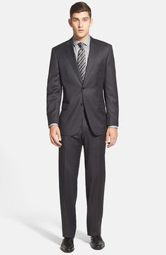 BOSS HUGO BOSS 'Pasolini/Movie' Classic Fit Charcoal Wool Suit available at #Nordstrom