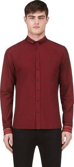 Balmain - Burgundy Embellished Shirt