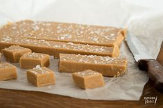 Recept: Fudge met gezouten karamel / Recipe: Salted caramel fudge