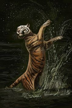 Dancing Tiger by Maquenda.deviantart.com on @deviantART