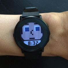 Have you ever wanted to walk around with a pixelated head on your wrist? What about a customizable pixelated head? Rock on with your bad self with Tinyheads, a watchface that makes it easy to create your own Pebble Time Round BFF from a selection of hair, eyes, noses, and mouths. Display the time by flicking your wrist, or choose analog hands to be displayed over your Tinyhead.