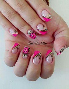 Finger, Lines On Nails, Wedding Nails, Nail Colors, Nail Designs, Hair Beauty, Polish, Nail Art, Pink