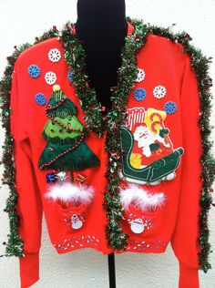 Size Large Grinch Ugly Christmas Sweater Jingle Bells One of a ...
