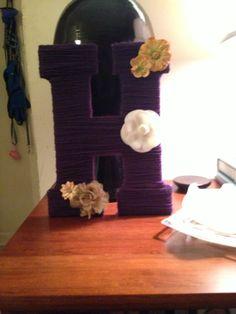 DIY yarn wrapped letter!