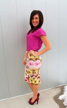 Love this cute floral skirt!