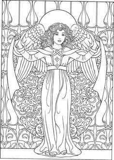 Angel coloring page | Angels Coloring Pages for Adults | Pinterest ...