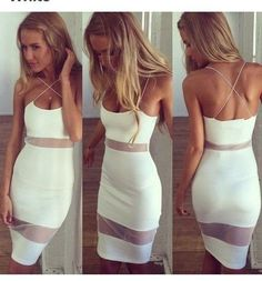 [ $21.00 ] Sexy Backless Bodycon Dress
