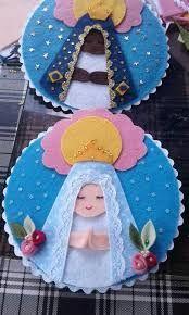 Resultado de imagem para Molde de Nossa Senhora Aparecida em E.V.A. para cartão