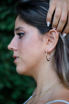 14k gold hoops Gold earrings Solid gold earrings Tribal | Etsy Solid gold hoop earrings in a dainty design, big 14k boho creole gypsy tribal hoops for women. These big solid gold hoops have a dainty creole boho design. They are very classic and chic and very noticeable. #lirlir Boho Necklace, Boho Jewelry, Jewelry Design, Gold Hoop Earrings, Gold Hoops, Boho Designs, Boho Rings, Solid Gold, Gypsy