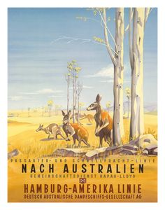 Hamburg America Line: Australian Outback, c.1935